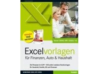 Franzis Excel-Vorlagen für Finanzen, Haushalt und Auto -