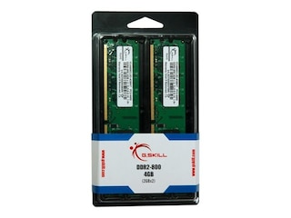 G.Skill DDR2 4GB Kit 800MHz, PC2-6400U, CL5-5-5-15, 2x 2GB Kit (F2-6400CL5D-4GBNT) -