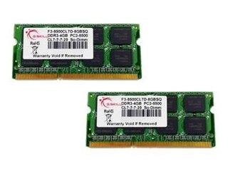 G.Skill DDR3 8GB SQ Serie SO-DIMM Kit 1066MHz, PC3-8500, CL7-7-7-20, 2x 4GB Kit -