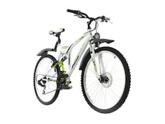KS Cycling Mountainbike Fully ATB 21 Gänge Zodiac 26 Zoll, Weiß-Grün, 48 cm