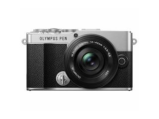 Olympus PEN E-P 7 Pancake Zoom Kit silber-schwarz -