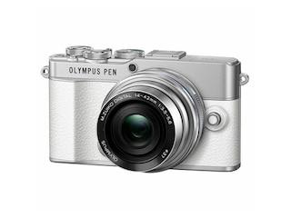 Olympus PEN E-P 7 Pancake Zoom Kit weiß-silber -