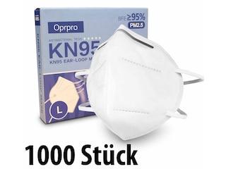 Oprpro Mundschutzmasken KN95 Masken - anpassbaren Nasenbügel (1000 Stück) -