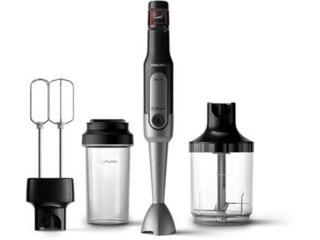 Philips HR 2653/90 Stabmixer Edelstahl/Schwarz (800 Watt, Trinkflasche 0.5 Liter) -