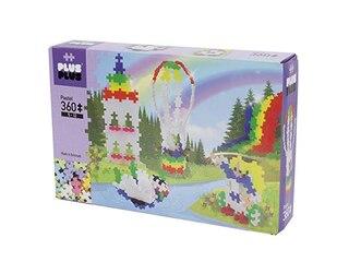 Plus-Plus Konstruktions-Spielset: Rainbow Hot Air Balloon Pastel, 360 Teile -