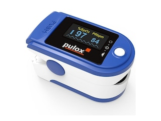 Pulox PO-200A Pulsoximeter mit Alarm und Pulston blau -