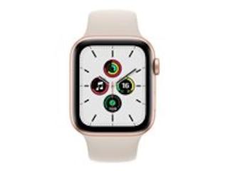 Apple Watch SE, GPS & Cellular, 44 mm, Aluminium gold, Sportarmband polarstern -