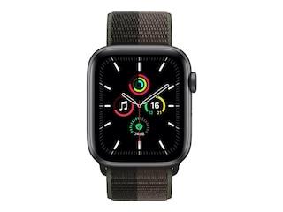 Apple Watch SE, GPS & Cellular, 44 mm, Alu. space grau, Sportloop tornado/grau -