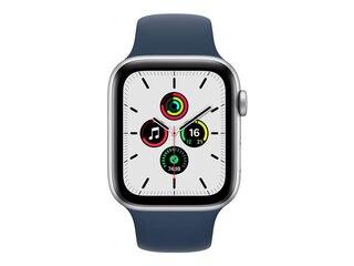 Apple Watch SE, GPS & Cellular, 44 mm, Alu. silber, Sportarmband abyssblau -