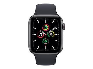 Apple Watch SE, GPS & Cellular, 44 mm, Alu. space grau, Sportb. mitternacht -