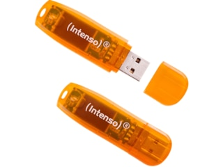 Intenso USB-Stick Doppelpack 64GB 28,00 MB/s, Orange -