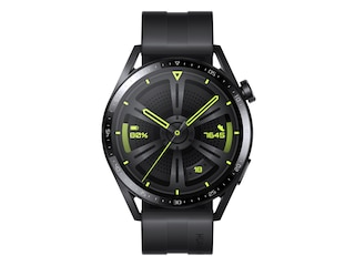 Huawei WATCH GT 3 46mm Edelstahl Fluoroelastomer, 140 - 210 mm, Black/Black -