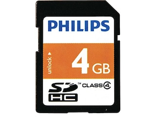 Philips SDHC-Card 4GB Class 4 (FM04SD35B/10) -