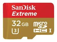SanDisk microSDHC Extreme Class 10 UHS-I 32GB (SDSDQXL-032G-GA4A)