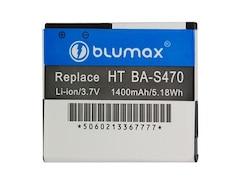 Blumax Li-Ion Akku für HTC BA-S470/Desire HD Ace A9191/T-Mobile myTouch HD (3,7V, 1400mAh)