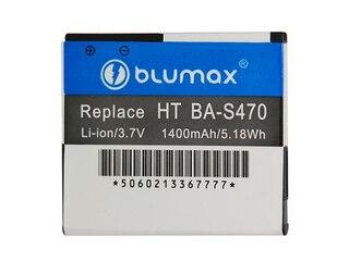 Blumax Li-Ion Akku für HTC BA-S470/Desire HD Ace A9191/T-Mobile myTouch HD (3,7V, 1400mAh) -