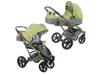 Knorr-Baby Kombi Kinderwagen Voletto happy colour mit Wickeltasche & Sonnenschirm, Farbe hellgrün