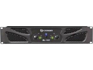 Crown Audio XLi 1500 PA-Endstufe 2 x 450/330 W Anschluss:XLR, Cinch, Speakon, Schraubklemmen. -