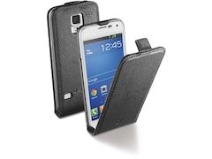 Cellular Line Kunstleder Klapptasche für Samsung Galaxy S5 mini, schwarz