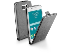 Cellular Line Kunstleder Klapptasche für Samsung Galaxy S6, schwarz