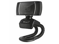 Trust Trino 18679 HD Webcam mit Mikrofon (8 Megapixel, 720p) Schwarz