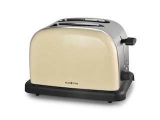 Klarstein Toaster 2-Scheiben Edelstahl 1000W creme -
