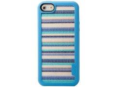 Vacii iPhone 5/5S Hülle mit Echtstoff - Blue