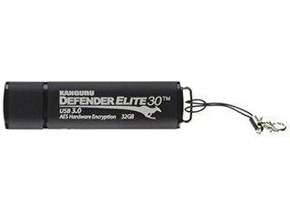 Kanguru Defender Elite verschlüsselt-Flash-Laufwerk - 32 GB-schwarz -