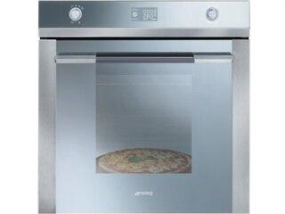 Smeg SF122PZ Einbau Backofen Edelstahl Reinigungsprogramm Pizzastein Einbauherd -