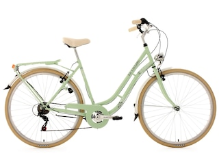 KS Cycling Cityrad, 28 Zoll, grün, 6 Gang-SHIMANO-Kettenschaltung, Casino -