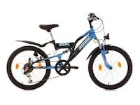 KS Cycling Fully Jugend-Mountainbike, 20 Zoll, blau-schwarz, 6-Gang-Kettenschaltung, Zodiac