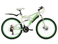 KS Cycling Fully-Mountainbike, 26 Zoll, weiß-grün, 21 Gang-Kettenschaltung, Bliss