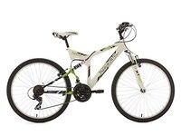 KS Cycling Fahrrad Mountainbike MTB Fully 26 Zoll Zodiac weiß-grün RH 48 cm, 322M
