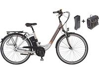 Prophete E-Bike City inkl. 2. Akku u. Packtasche, 28 Zoll, 7 Gang Shimano Nexus, »Navigator Pro«, grau