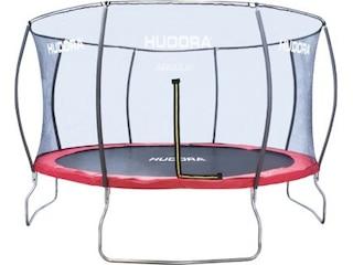 Hudora Trampolin 400cm, inkl. Netz, Fantastic Trampolin 400V, rot -