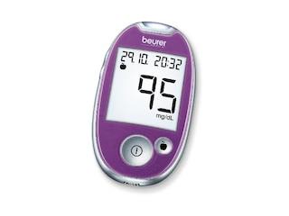 Beurer GL 44 mg/dl Blutzuckermessgerät, Purple -