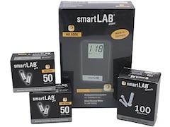 SmartLab mini Blutzuckermessgerät mg/dL Bundel Set Scheckkartenformat Schwarz