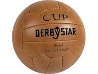 Derbystar Fußball Nostalgieball Cup, Braun, Gr. 5