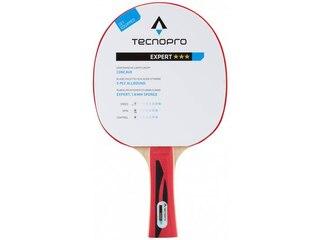 TecnoPro Expert 3 Stern Tischtennisschläger (Farbe: 900 schwarz/rot) -