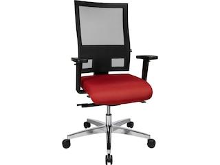 Topstar PS69BHW51 Bürodrehstuhl Sitness 60 inklusive Armlehnen / Sitzbezug rot - Netzbezug schwarz -
