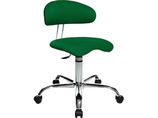 Topstar ST290W55 Fitnessdrehhocker mit Rückenunterstützung Sitness 40, Stoffbezug, grün -