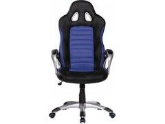 Amstyle SPM1.214 Racer Sport Bürostuhl, Chefsessel Kunstleder, blau / schwarz