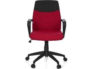 HJH Office 723011 Bürostuhl Royal, Stoff, dunkelgrau / dunkelrot -