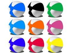 MMK Wasserball Strandball ca. 28cm R5E1 (01 Rot-Weiss)