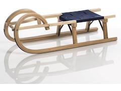 Sirch Hörnerschlitten Standard Plus mit Gurtsitz (100 cm, Esche lackiert 2 Bockstützen )