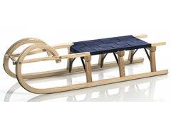 Sirch Hörnerschlitten Standard Plus mit Gurtsitz (115 cm, Esche lackiert 3 Bockstützen )