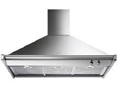 Smeg Dekorkaminwandhaube 100 cm Trapez Classisi Design 4 Leistungsstufen Edelstahl