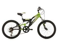 KS Cycling Fully Jugend-Mountainbike, 20 Zoll, schw.-grün, Shimano 6 G.-Kettenschaltung, »Zodiac«
