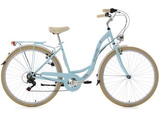 KS Cycling Damen-Cityrad, 28 Zoll, hellblau, Shimano 6 Gang-Kettenschaltung, »Casino« -