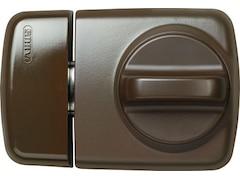 Abus Tür-Zusatzschloss mit Drehknauf 7510 B - schmalen Rahmenprofilen, braun